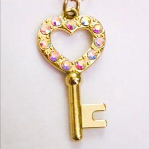 Rhinestone Key Pendant